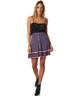 AUBERGINE WOMENS CLOTHING TIGERLILY SKIRTS - T373273AUB