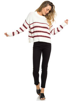 MARSHMALLOW CLOUDY WOMENS CLOTHING ROXY KNITS + CARDIGANS - ERJSW03315-WBT4