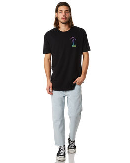 BLACK MENS CLOTHING GOOD WORTH TEES - TSP1822BLK