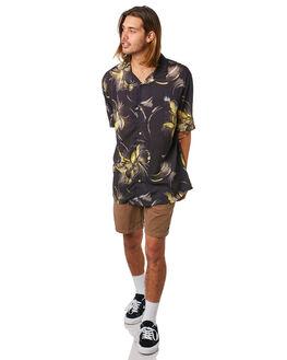 BLACK MENS CLOTHING STUSSY SHIRTS - ST083403BLK