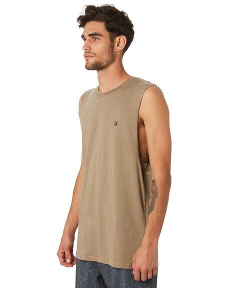 BRINDLE MENS CLOTHING VOLCOM SINGLETS - A3731624BNL