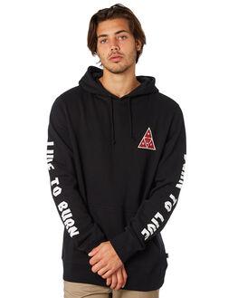 BLACK MENS CLOTHING HUF JUMPERS - PF00128BLK
