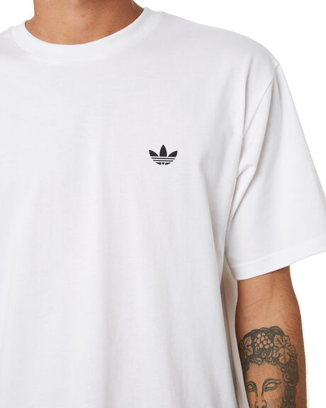 WHITE BLACK MENS CLOTHING ADIDAS TEES - GM5176WHB