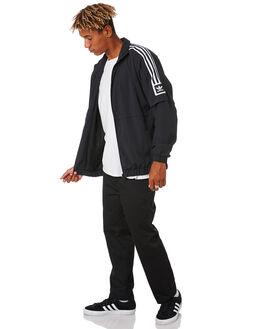 BLACK WHITE MENS CLOTHING ADIDAS JACKETS - EC7328BLKWH