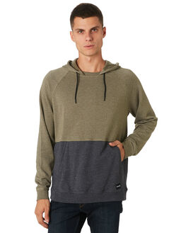 OLIVE CANVAS HEATHER MENS CLOTHING HURLEY JUMPERS - AJ2228394