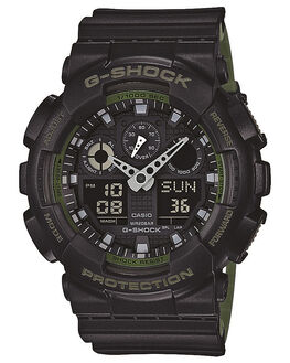 BLACK MENS ACCESSORIES G SHOCK WATCHES - GA100L-1ABLK