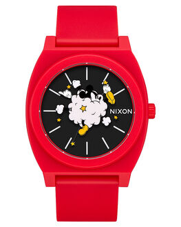 RED BLACK MENS ACCESSORIES NIXON WATCHES - A1193098RDBLK