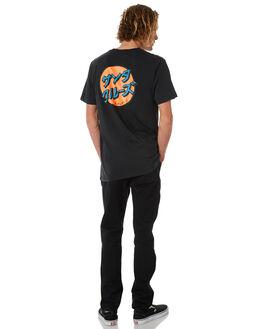 BLACK MENS CLOTHING SANTA CRUZ TEES - SC-MTB8874BLK