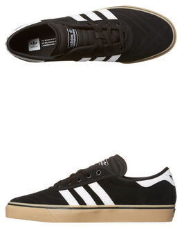 BLACK WHITE GUM MENS FOOTWEAR ADIDAS SKATE SHOES - F37319BKWH