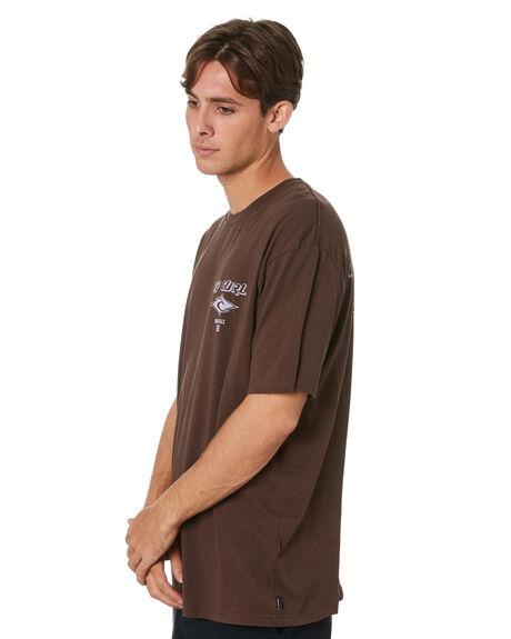 BROWN MENS CLOTHING RIP CURL TEES - CTESS90009
