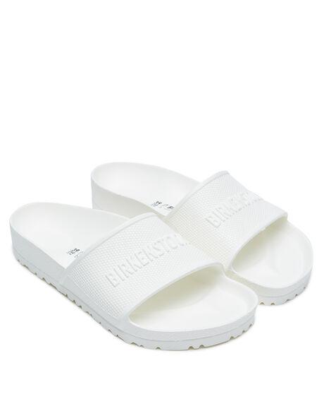WHITE WOMENS FOOTWEAR BIRKENSTOCK SLIDES - 1015399WHI
