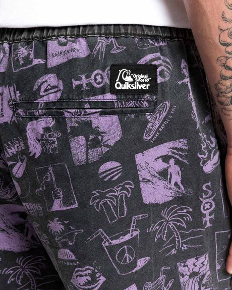 BLACK MENS CLOTHING QUIKSILVER SHORTS - EQYWS03628-KVJ6