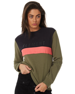 OLIVE WOMENS CLOTHING ELEMENT JUMPERS - 283301OLV