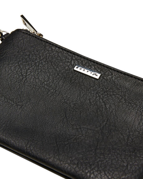 BLACK WOMENS ACCESSORIES RUSTY PURSES + WALLETS - WAL0826BLK