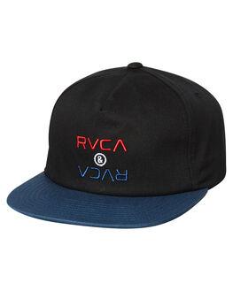 BLACK MENS ACCESSORIES RVCA HEADWEAR - R183572BLK