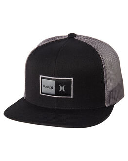 BLACK BLACK MENS ACCESSORIES HURLEY HEADWEAR - AT8568010