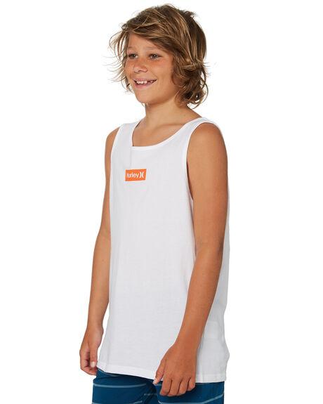 WHITE KIDS BOYS HURLEY TOPS - ABSIBSBXWHT