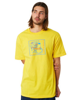 YELLOW MENS CLOTHING PASS PORT TEES - MORNINGRITYLLW