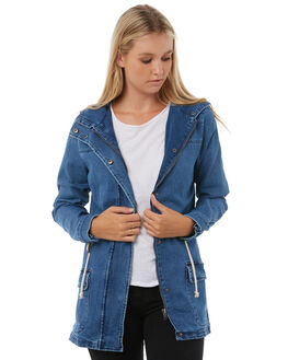 BLUE WOMENS CLOTHING SWELL JACKETS - S8182381BLUE
