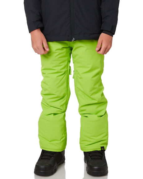 LIME GREEN BOARDSPORTS SNOW QUIKSILVER KIDS - EQBTP03018GKC0