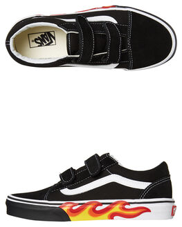 BLACK KIDS BOYS VANS SNEAKERS - VNA38HDUJGBLK