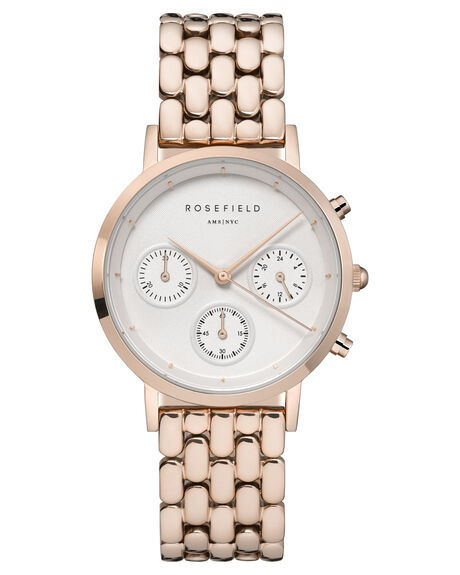 WHITE ROSE GOLD WOMENS ACCESSORIES ROSEFIELD WATCHES - NWG-N91WHTRG