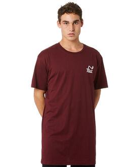BURGUNDY MENS CLOTHING FEAT TEES - FTTTLOG01BURGD