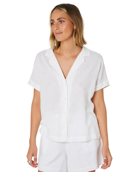 WHITE WOMENS CLOTHING NUDE LUCY FASHION TOPS - NU23789WHITE