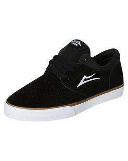 BLACK SUEDE MENS FOOTWEAR LAKAI SKATE SHOES - MS2190244A00BLK