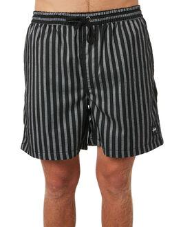 BLACK WHITE MENS CLOTHING STUSSY SHORTS - ST095612BLKWHT