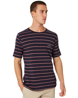 NAVY STRIPE MENS CLOTHING BARNEY COOLS TEES - 103-CR3NSTRP