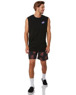 BLACK MENS CLOTHING SANTA CRUZ SHORTS - SC-MBA0502BLK