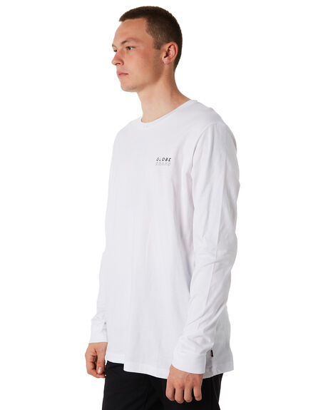 WHITE OUTLET MENS GLOBE TEES - GB01830022WHT
