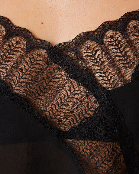SHEER BLACK WOMENS CLOTHING KAT THE LABEL SOCKS + UNDERWEAR - KTS-09BLK