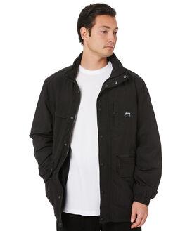 BLACK MENS CLOTHING STUSSY JACKETS - ST007500BLK