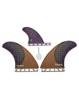 JUTE CARBON PURPLE BOARDSPORTS SURF FUTURE FINS FINS - 1527-941-00JCAPU