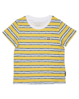 LIGHT MUSTARD KIDS TODDLER BOYS BILLABONG TEES - 7581003LMUST