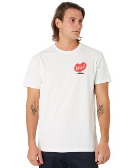 VINTAGE WHITE MENS CLOTHING DEUS EX MACHINA TEES - DMF91957AVNWHT