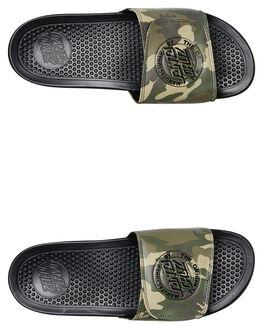 CAMO MENS FOOTWEAR SANTA CRUZ SLIDES - SC-MYA9118BLK
