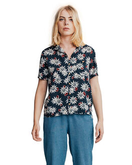 BLUE NIGHT WOMENS CLOTHING QUIKSILVER FASHION TOPS - EQWWT03004-BST6