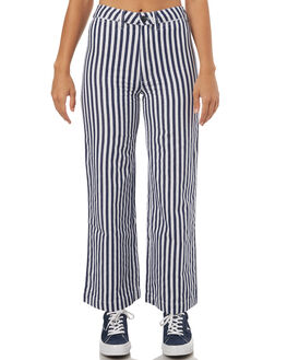 NAVY STRIPE WOMENS CLOTHING ROLLAS PANTS - 12494443