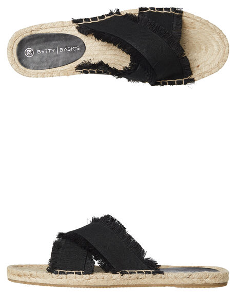 BLACK WOMENS FOOTWEAR BETTY BASICS SLIDES - BB922T19BLK