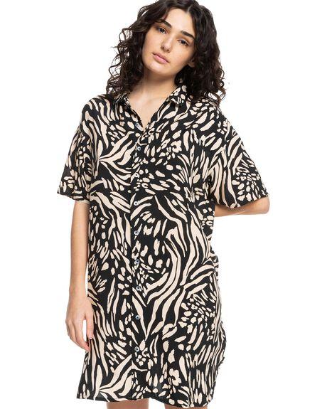 SAFARI BLACK WOMENS CLOTHING QUIKSILVER DRESSES - EQWWD03031-KVJ6
