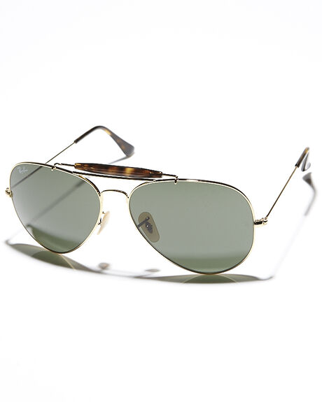 GOLD DARK GREEN UNISEX ADULTS RAY-BAN SUNGLASSES - 0RB302962181