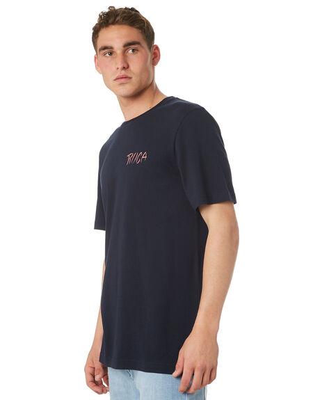 NEW NAVY MENS CLOTHING RVCA TEES - R182048NWNVY