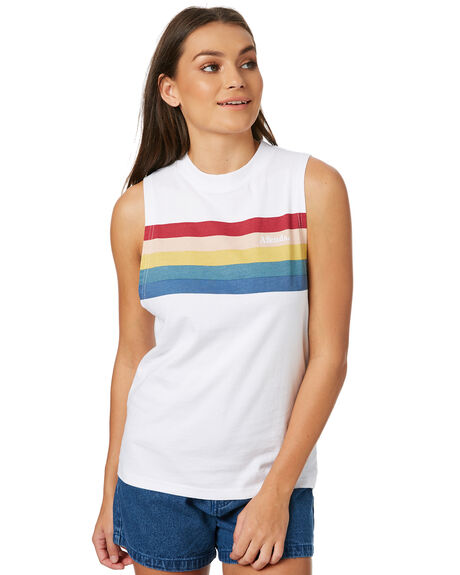 WHITE WOMENS CLOTHING AFENDS SINGLETS - W182085WHT