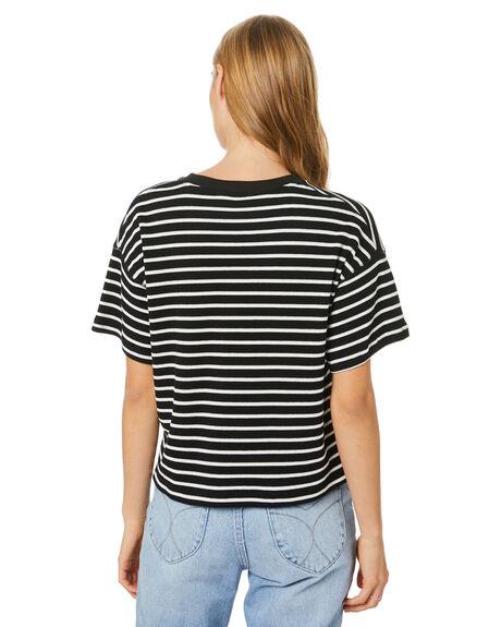 BLACK WHITE WOMENS CLOTHING RPM TEES - 20WW05ABLKWT