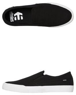 BLACK WHITE MENS FOOTWEAR ETNIES SLIP ONS - 4101000511979