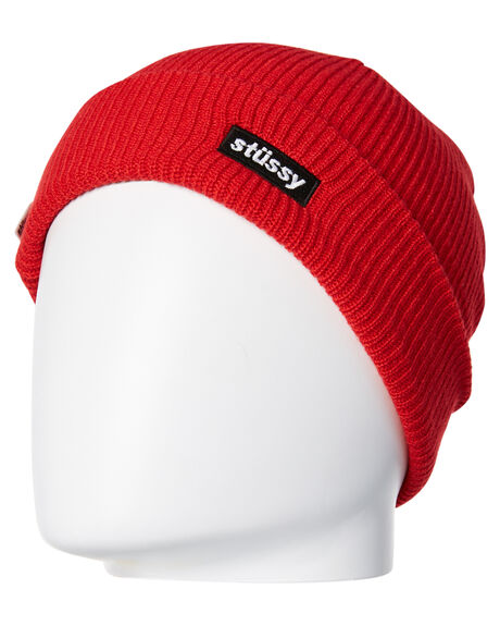RED MENS ACCESSORIES STUSSY HEADWEAR - ST787005RED