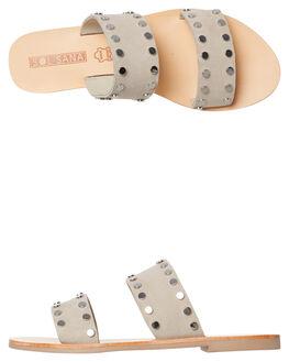 FOG GREY SUEDE WOMENS FOOTWEAR SOL SANA SLIDES - SS181S301FOG